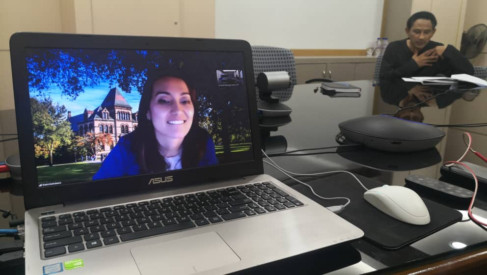 Virtual Meeting with Brown University, USA